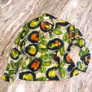 Vintage 💯silk blouse